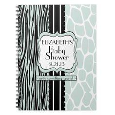 Baby Shower Guestbook-Sage Spiral Notebooks