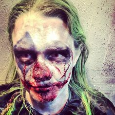 special fx makeup by Kristal Shannon www.kristalshannon.com for the mortuary new orleans clown halloween