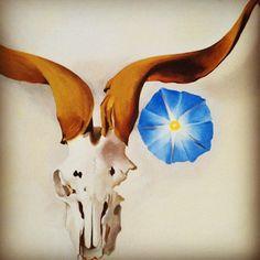 """""""""""Sun-bleached bones were most wonderful against the blue…"""" - Georgia O'Keeffe #newmexico"""""""