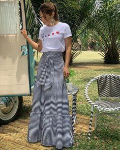 A Line Skirt Outfits, Cool Outfits, Summer Outfits, Casual Outfits, Choli Dress, Dress Skirt, Modest Fashion, Fashion Dresses, Fashion Styles
