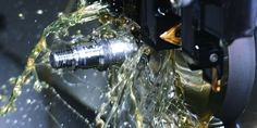 A metalworking fluid, more commonly referred to as the MWF, is a sort of coolant or lubricant used during the cutting, grinding or machining of a metal piece.  http://www.lukor.net/2013/09/24/developments-in-metal-working-fluids-in-recent-years/
