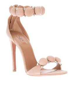 Alaia Studded Ankle Strap Sandals