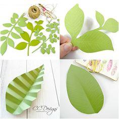 Paper vines and leaves. Paper leaf craft.