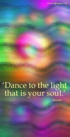 Rejoice in the beauty of who you are. Sing out for the joy in your heart. Dance to the light that is your soul. For you are love. Love and Light