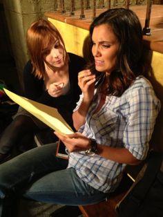 'NCIS: LA' Season 5 Spoilers: Behind the Scenes PHOTOS, Fast Cars, Time Jump VIDEO Daniela Ruah and Renee Felice Smith learning lines on the set of season 5 'NCIS: Los Angeles'