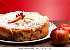 Austrian Cuisine - Desserts - Closeup of cheesecake with sour apples. by eZeePics Studio, via Shutterstock Passover Apple Cake Recipe, Apple Cake Recipes, Passover Recipes, Jewish Recipes, Cheesecake Recipes, Pie Recipes, Sweet Recipes, Dessert Recipes, Desserts