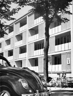 Viergeschossiges Wohnhaus, Hansaviertel, Tiergarten, 1957