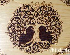 Caixa Árvore da Vida Celta Caixa de jóias Caixinha by ArtisIgnis
