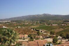 village mountain views jalon spain