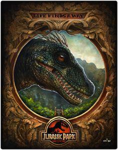 When Dinosaurs Ruled the Earth – Jurassic Park Art Show @Mondo | Geek Art – Art, Design, Illustration & Pop Culture ! | Art, Design, Illustration & Pop Culture !