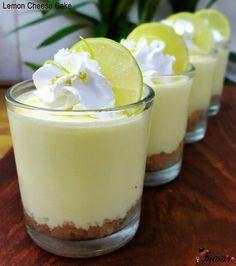 Lemon yogurt cheese cake glass dessert #helthy #desert