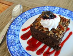 Brownies with Port: The Perfect Pair - a dark chocolate brownie or a brownie with nuts