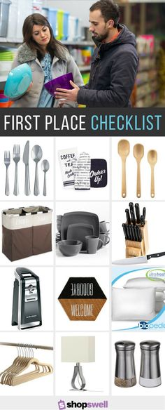 Moving into your first place? Use this checklist as an overall guide to completing your living space and making it home.