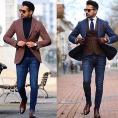 "15.1k Likes, 113 Comments - Mens Fashion Influencer👥 (@mensuitsteam) on Instagram: ""1 or 2?? @makanveli ✔️✔️🔝"""