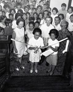 Ribbon cutting at Philippines open house event in 1971.
