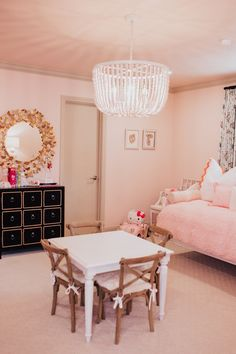 Light pink girls' bedroom featuring Wing It by Clare. Shop now at clare.com!