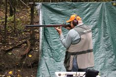 One of the Chief Instructors demonstrating black powder firearms.