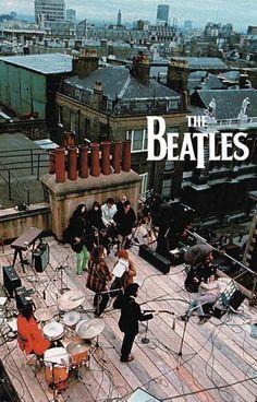 The Beatles Rooftop Concert Music Poster 11x17 – BananaRoad: