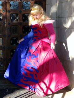 Sleeping Beauty Pink and Blue Gown