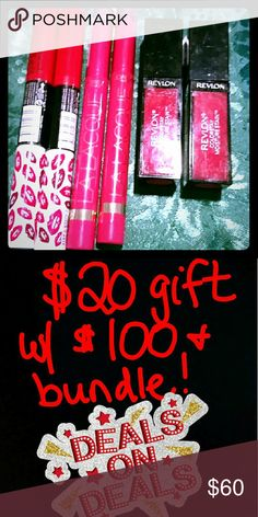 *Bogo sale* *New 6pc lipcolor bundle Perfect for Christmas stocking stuffers  2 Rimmel   2 Revlon  2 L'Or?al   Vibrant long lasting lip stick and lip color  SHARE my full closet for discounts and free $20 gift w/ any $100 purchase (1250 shares) Revlon Makeup Lipstick