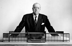 Ludwig Mies van der Rohe - Best known for his Barcelona Chair. http://www.glicksfurniture.com.au/barcelona-chair-black-leather-premium-replica?filter_name=barcelona