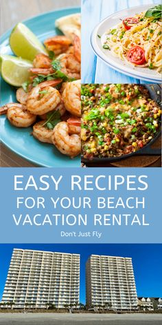 This full weekly meal plan helps you to cook your own meals during your next beach trip or family vacation. Includes a free grocery list printable with all the ingredients you need to make yummy dinners your family will love. Home Recipes, Kitchen Recipes, Easy Dinner Recipes, Easy Meals, Cooking Recipes, Beach Vacation Meals, Beach Trip, Vacation Ideas, Family Meals