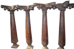 Wooden Old & Vintage #Caving Pillar........set on your home and give vintage look to your home.