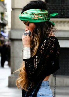 #summer #fashion / black and green