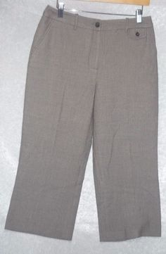 Est5th women's Capri pants classic fit flat front brown textured size 6 NEW   16.99 free us shipping http://www.ebay.com/itm/-/252069630796?