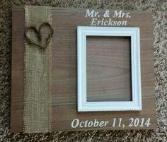 Custom wedding 5x7 photo holder