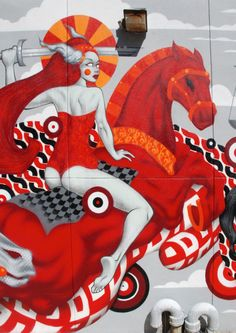 girl on a horse. Tristan Eaton / US