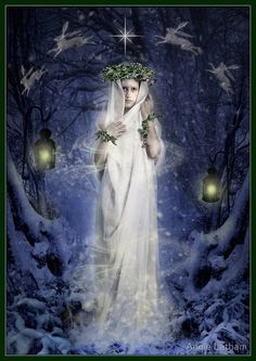 """Yule Goddess"" by Angie Latham 