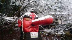 """Neve+quebra+nariz+de+estátua+e+os+japoneses+encontram+um+meio+diferente+para+""""resolver"""""""