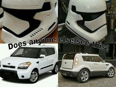 Every time I see a white kia soul I think of the new stormtrooper helmet. So I made this to find out if I'm alone on this one?