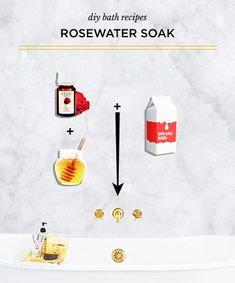 Rose-Infused Bathwater - Concoct your very own spa day with these luxurious DIY bath recipes