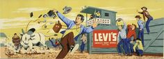 Levi's in Bull Flight!