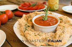 The Slow Roasted Italian - Printable Recipes: Simple Rosemary Parmesan Crusted Chicken Tenders