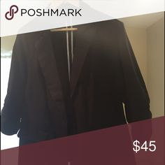 Torrid black one button blazer size torrid 1 3/4 shirred sleeve stretch never worn without tags torrid Tops