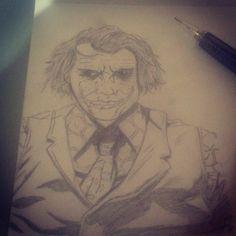 my joker drawing =D