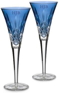 Waterford Crystal Lismore Sapphire Flutes- expensive, but gorgeous