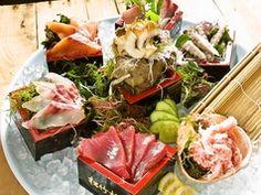 Okayama|岡山(おかやま)|Restaurant|魚松 味ビル市場店|瀬戸内鮮魚の魚松盛り(升盛り)2~3人前