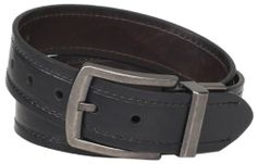 Levi's Men's Reversible Belt with Logo Buckle, Black/Brown, Small - $13.13 at amazon.com