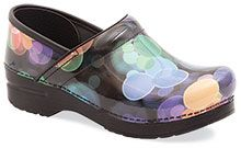 This old lady wants some new Dansko clogs.. these are pretty! Professional Bubbles Patent