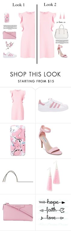 """""""Look1/Look2 ? Kindly comment. Waiting for your valuable response. Thank you..😘"""" by ansadesigns ❤ liked on Polyvore featuring Witchery, adidas Originals, Ankit, Steve Madden, French Connection, Eddie Borgo and Givenchy"""