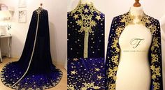 Starcloack. Made for the Sterntaler shoot in Switserland with Annie Bertram . Since the shoot I added even more stars to it ^^. Made from dark blue velvet, lace and incredibly many stars. I wanted the...