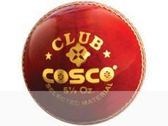 Cosco Cricket Leather Ball - Club