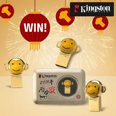 In celebration of Chinese New Year, Kingston is giving away our special edition Year of the Monkey USB flash drive everyday leading up to Chinese New Year! Click the link to check it out!