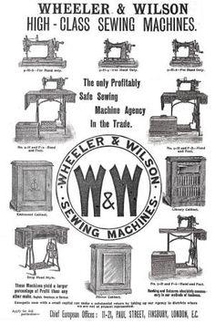 Wheeler & Wilson D9 Advertisement