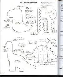Resultado de imagen de Dinossauros em feltro moldes