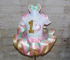 Carousel ribbon trim tutu, Unicorn ribbon trim tutu, Carousel birthday outfit…